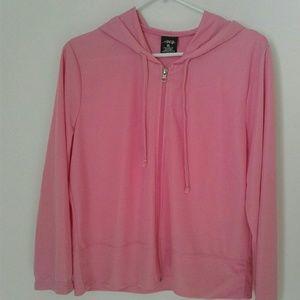 BCG Pink Lightweight Hoodie Sweatshirt